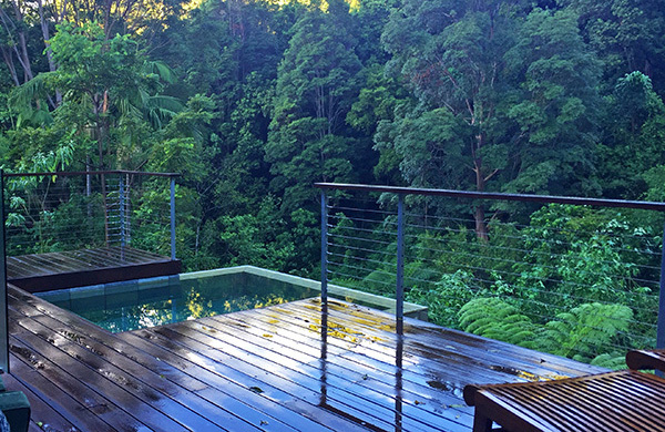 luxury mountain view lodge, crystal creek rainforest retreat, romantic accomodation with spa and fireplace, couples retreat gold coast, couples retreat brisbane, romantic accomodation great views, best brisbane getaway, pool and spa getaway