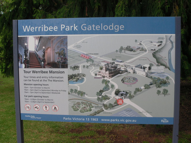 map,werribee,park,grounds