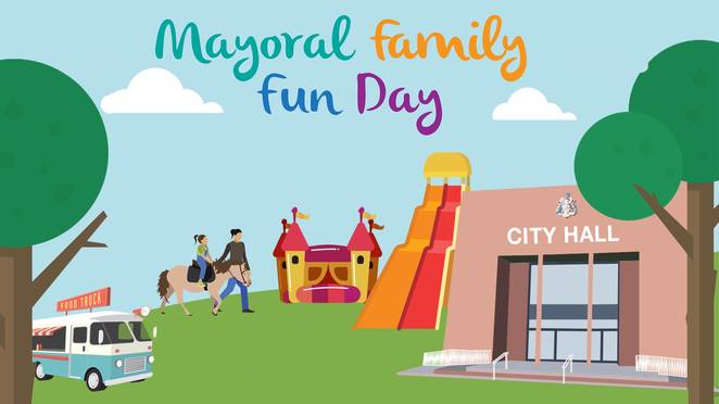 mayoral family fun day 2017, city of greater dandenong, community event, fun things to do, family fun, fun for kids, springvale town hall, free event, picnic, free rides and activities, ferris wheel, rock climbing, giant slide, jumping castle, obstacle course, animal far, pony rides, face painting, chair o plane, free planting, fairy floss, food and drink
