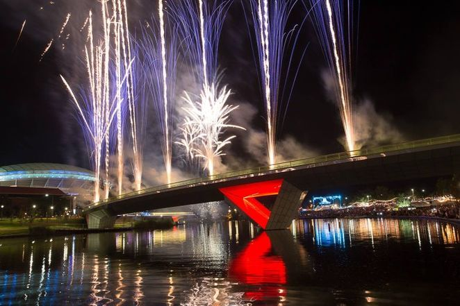 New Years Eve party, New Years Eve in Adelaide, new years eve, adelaide, fireworks, footbridge, NYE, free, river torrens, city of adelaide