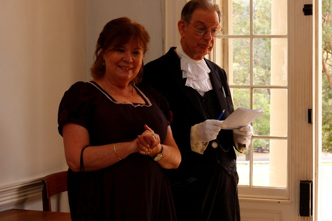 Old Government House, Parramatta, Parramatta Park, Friends of Old Government, volunteering, Pioneers in Petticoats, Blaxland and Daughter, Wendy Blaxland, Brigid O'Sullivan, colonial history, culture, Lachlan Macquarie, National Trust, Ghost Tour, special events