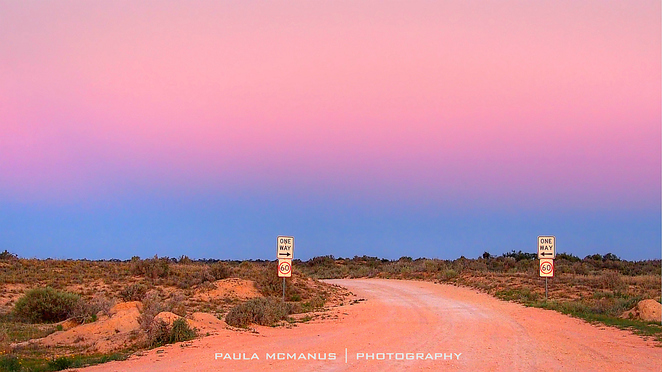 one way outback road