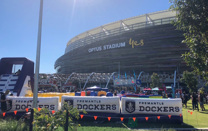 Optus Stadium, Perth Stadium, Burswood, Optus Stadium Events, AFL Games Perth, Kids at Optus Stadium, Chervon Parkland