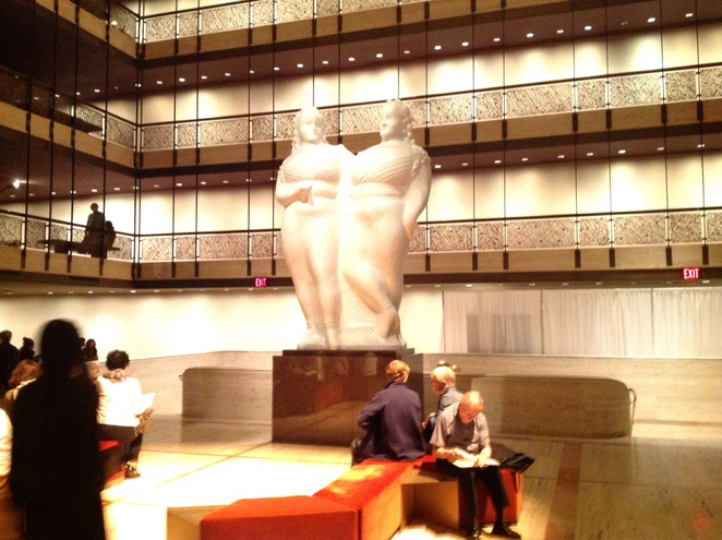 Part of the elegant foyer at the Lincoln Center NewYork City