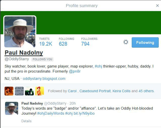 Paul Nadolny, ohj, word game, twitter word game,