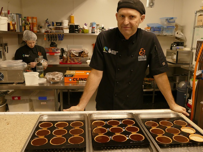 Peter Edmunds in his Chocolate-making Kitchen