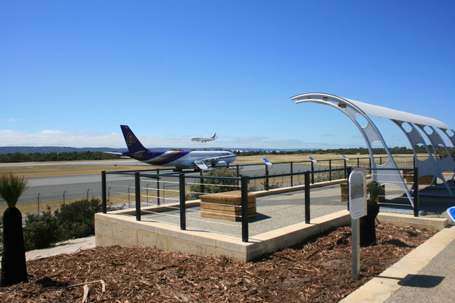 plane, airport, viewing, perth, airplane, aeroplane, view, lookout