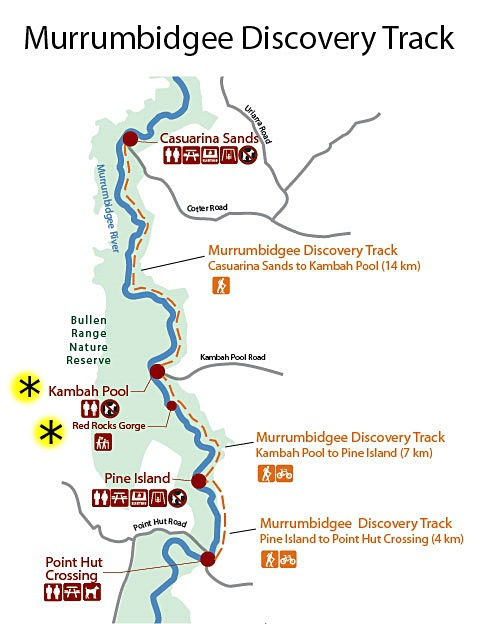 red rock gorge, murrumbidgee discovery track, canberra, ACT, bushwalks, lookouts, views, short walks, centenery trail,