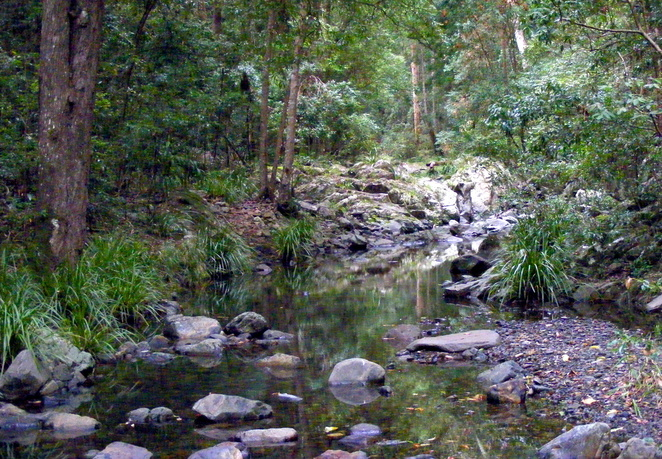 The walk includes a wide variety of scenery, including several lovely creeks
