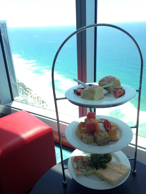 SkyPoint, Q1, High-Tea, Cafe, Coffee, Sky Tea, Scones, Cakes, Sandwiches