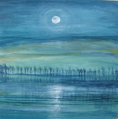 Space2 b 100 paintings for peace exhibition Karen Hopkins