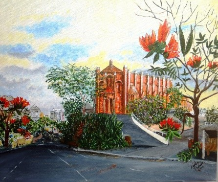 St Brigid's painting, st brigids, 100 years on the hill, st brigid's red hill, brisbane open house weekend