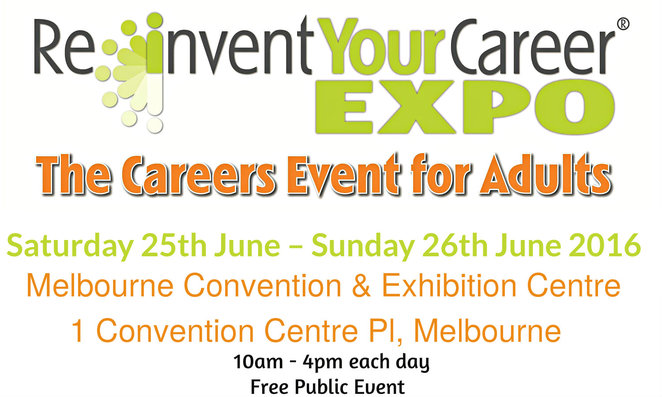 sue ellson, linked in, reinvent your career expo 2016, mecc, melbourne exhibition and convention centre, career advice, free public event, career and employment, seminars, workshops, workforce