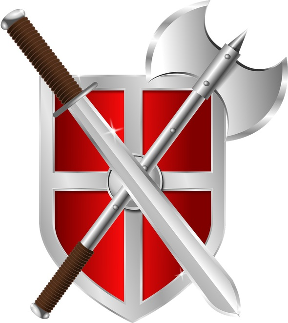 sword,shield,axe,red,medieval,battle
