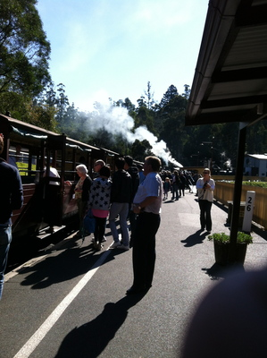 The Puffing Billy station