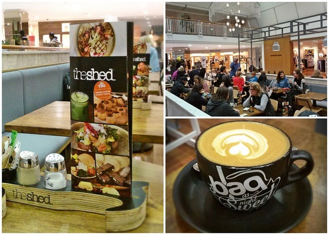 the shed, westfield woden shopping centre, phillip, cafes in woden, coffee in woden, best cafes in woden, ACT, breakfast, lunch,