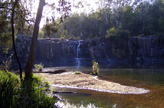 The swimming hole at Tooloom Falls