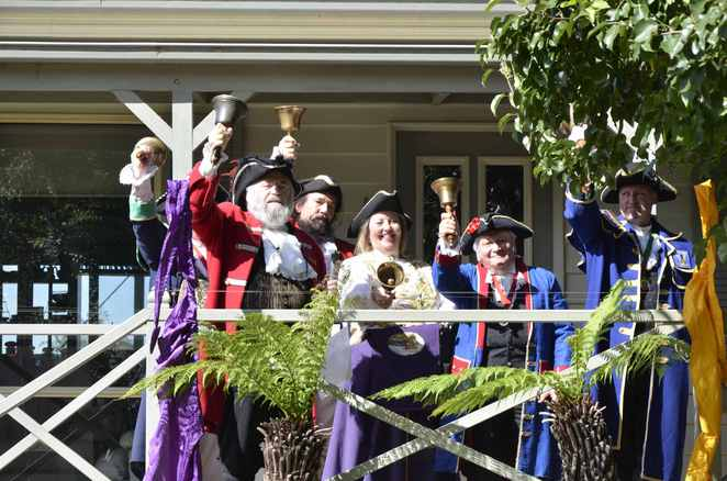 Town Criers Championships on the day
