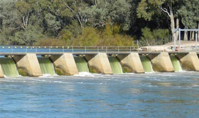 weir, Wentworth, river, Murray