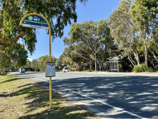Once on Straddie, catch the bus to The Domain bus stop at Point Lookout