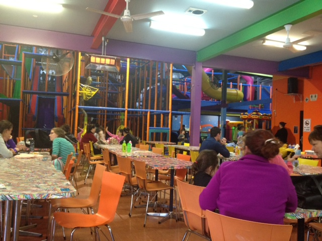 School holiday activity, playcentre, indoor play centre, function venue, jumping castle, baby crawl area, fitness centre, 8 metre slide, children's parties, family fun activity