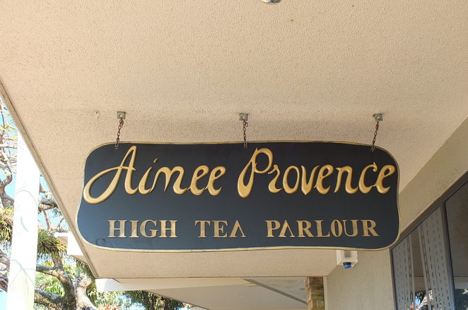 Aimée Provence High Tea Parlour, Buderim, refined elegance, classic decor, luxury seating, British High Tea, engagement, bridal, baby shower, birthdays, freshly cut flowers, Christina Re, venue for private events, cocktail party, champagne and high tea, gift cards, indoor seating, outdoor seating, dog friendly, Devonshire Teas, pampering, attention to detail