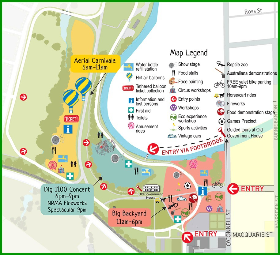Australia Day 2015 at Parramatta Park Sydney – Show Map of Australia