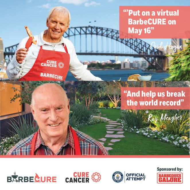 barbecure 2020, the biggest virtual barbecure 2020, charity, fundraiser, barbeques galore australia, online event, covid-19, national bbq day 2020, cure cancer australia, guinness world record bbq title, donate to cancer cure, host a bbq, virtual barbecure 2020