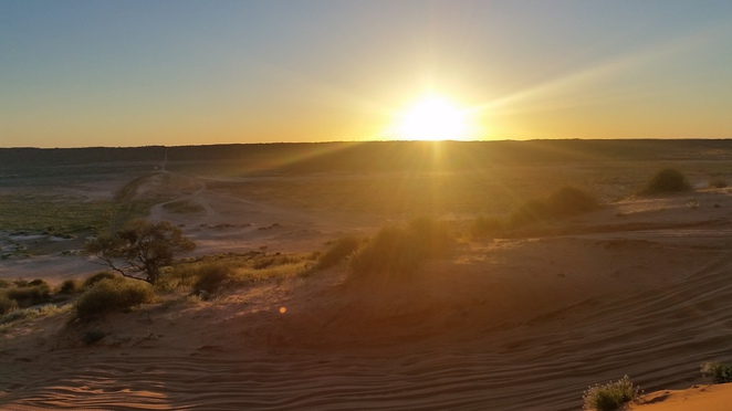 Simpson Desert sunset