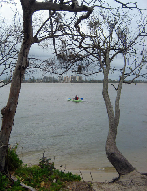 Looking at Caloundra from Bribie Island