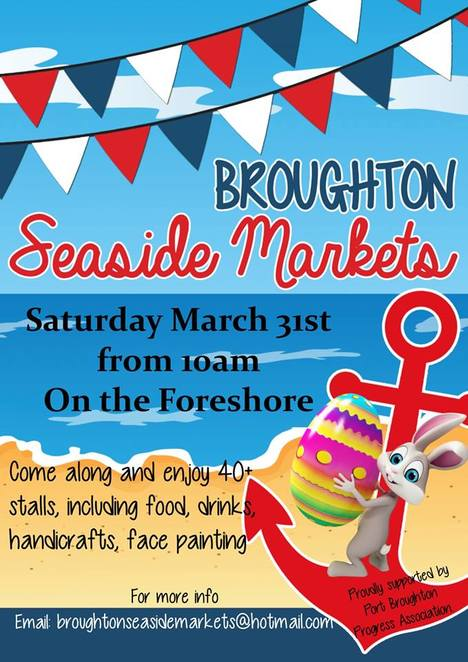 broughton seaside markets, port broughton, easter, bunny, outdoor cinema, sandra's biscuits, alison's death by chocolate treats, fairy floss queens, vibrant ray, pablos daughter, bubblegum goodies, hop