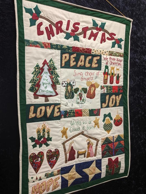 Christmas market day, embroiderers' guild of south Australia, market, embroidery, food, knitting, crochet, books, cards, patterns, kits, decorations, christmas