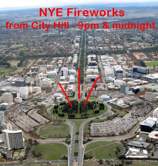 city hill, canberra, fireworks, new years eve, where do they go from, 2019, 2020, 2021, canberra, events, civic square, family, time, 9pm, midnight,