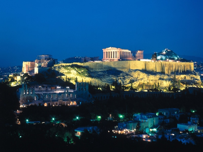 Acropolis, Parthenon, Athens at night