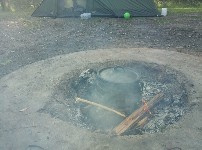 Firepit in the campsite at Buttercup Creek