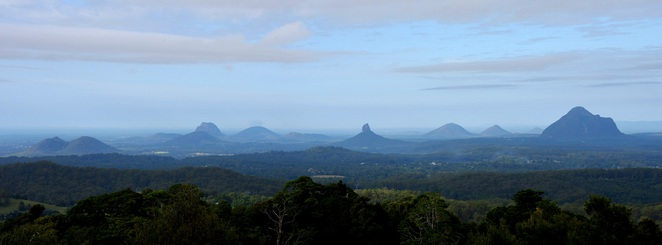 Glasshouse Mountains Panorama Views