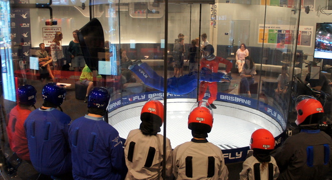 Indoor sky diving at iFly Chermside