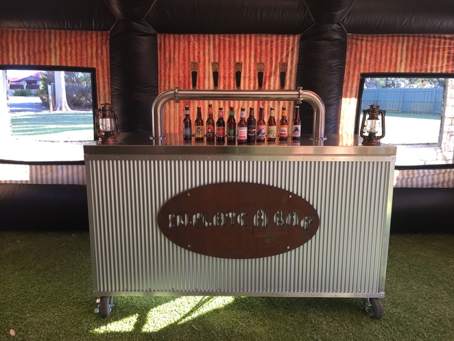 inflatable pub, food vendors, different party idea,