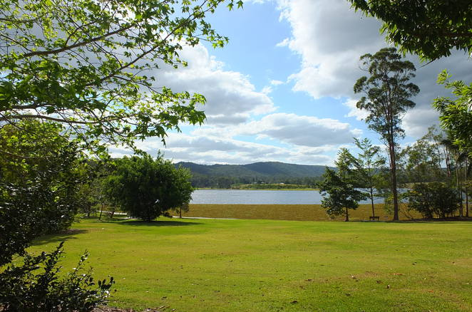 Jack Harrison Park, Wappa Dam, Sunshine Coast hinterland, South Maroochy River, Kiamba, native wildlife, sheltered picnics, playgrounds, BBQ's, seating, flying fox, mural, tracks, trails, bird-watching