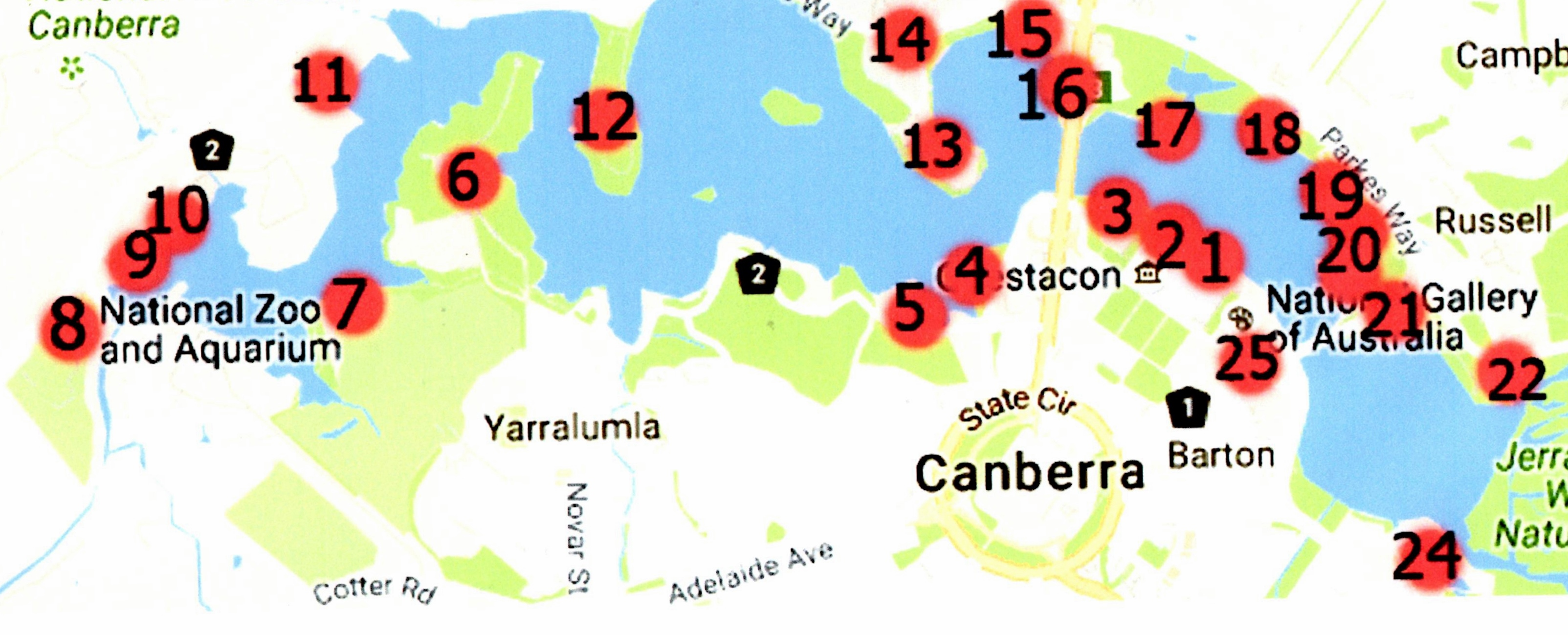 Quick Guide 25 Things to do Around Lake Burley Griffin Canberra