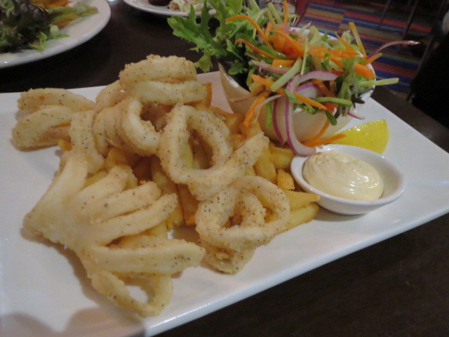 Lakefront Bar and Bistro, Salt and Pepper Squid, Adelaide