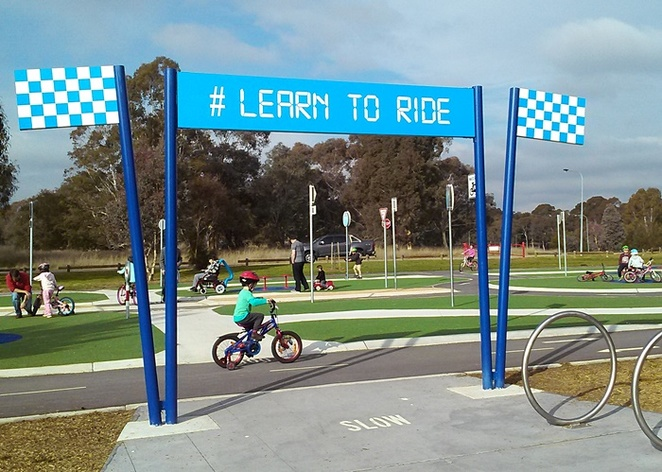 learn to ride park, lake tuggeranong, canberra, ACT, kids, children, family, toddlers, preschoolers,