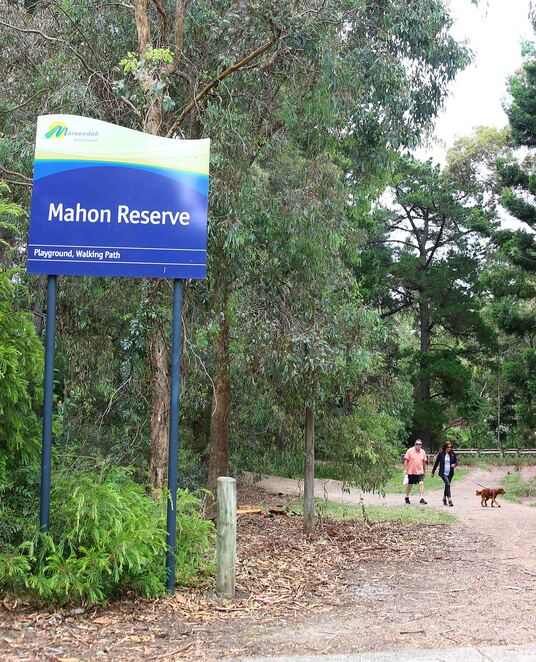 Mahon reserve entrance.