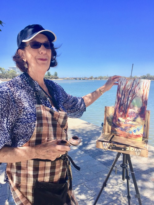 Mandurah artist at work