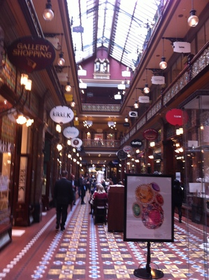Tables are available outside the area of Strand Arcade
