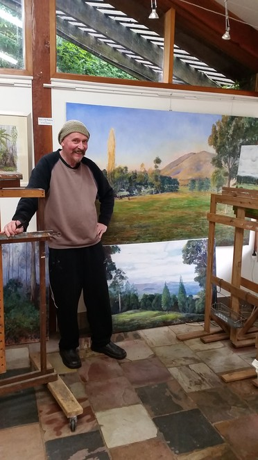 Peter Delahenty, at his Olinda art studio.