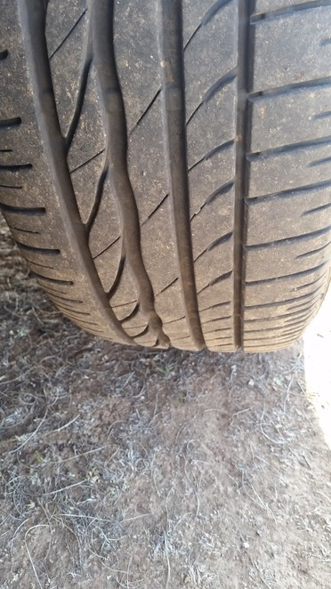 Properly inflated tyres with good tread-a must for winter.