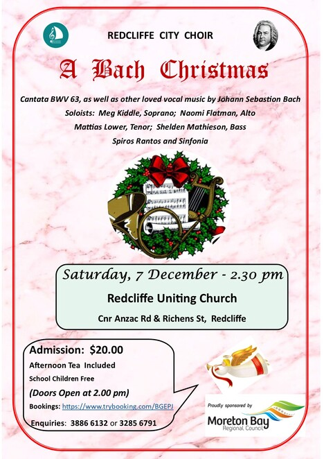 Redcliffe City Choir, A Bach Christmas, Redcliffe,