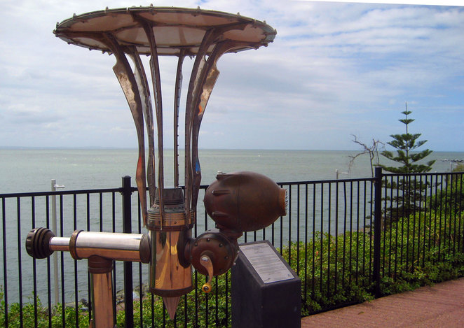 Art on the waterfront at Redcliffe