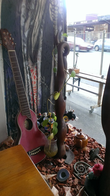 Rucker's Hill Cafe Window Display